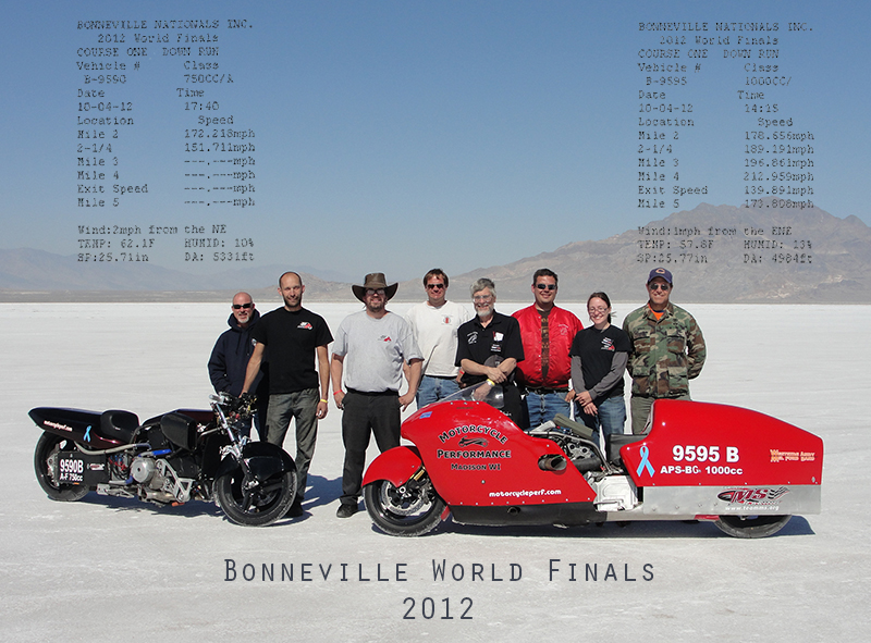Bonneville 2012 with timeslips